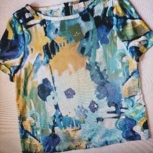 Kate Spade Abstract Floral Blouse